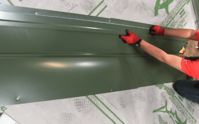 How to Install Metal Roofing Details: Offset Cleat Valley Detail