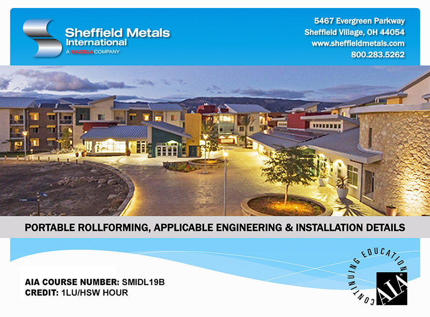 Sheffield Metals Launches New AIA Accredited Continuing Education Course: Portable Rollforming Course