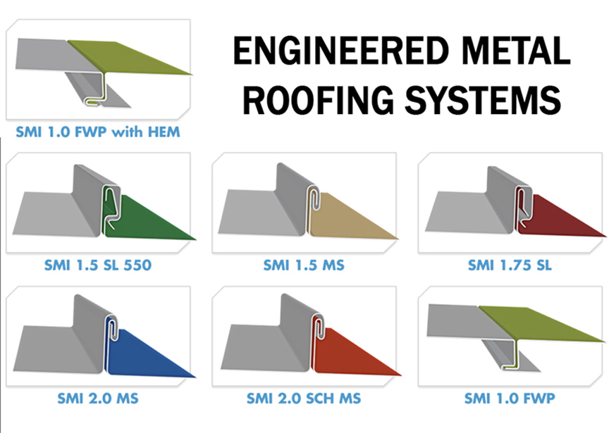 Standing Seam Vs. Stamped Metal Shingle Roofing: Engineered Metal Roofing Systems