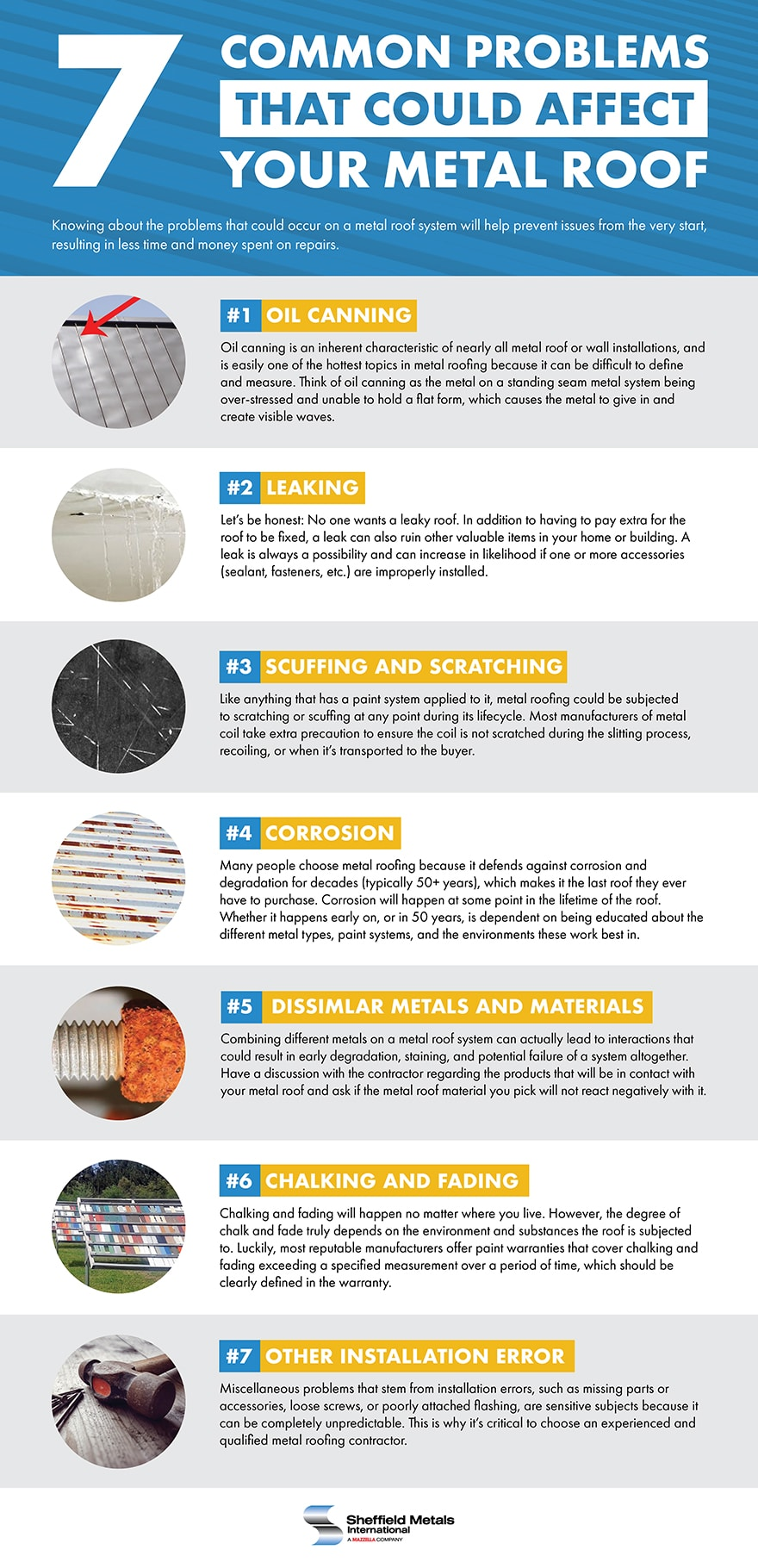 7 Common Problems That Could Affect Your Metal Roof: Infographic