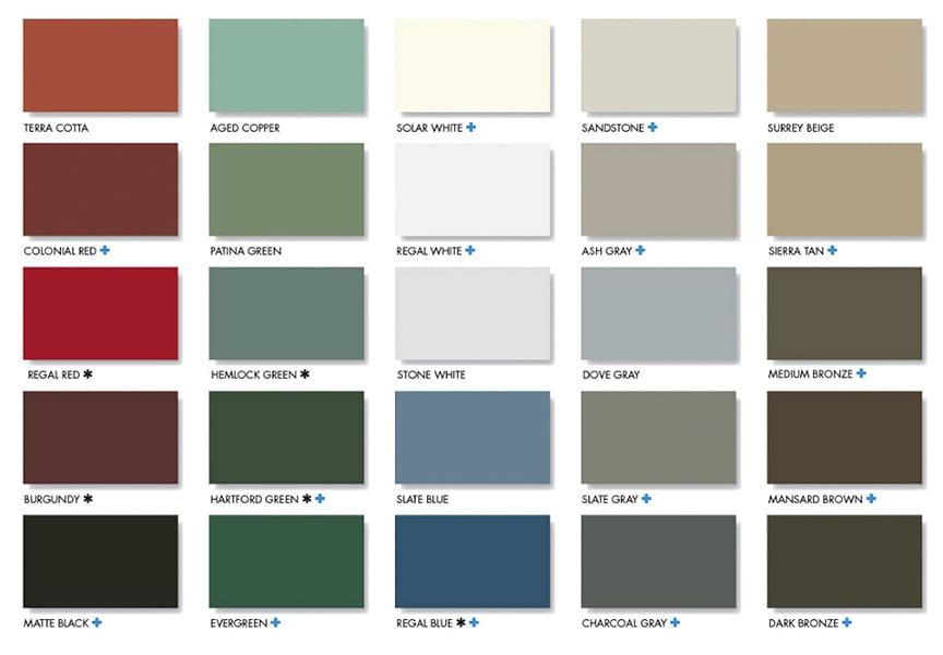 7 Reasons a Metal Roof is the Best Choice for Your Home or Business: Colors