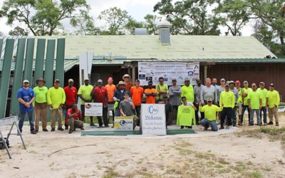 Contractors Install Donated Metal Roof at Florida Scout Reservation