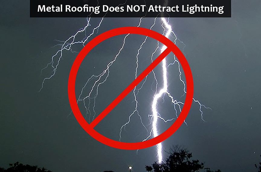 Lightning, Hail, Rust, & Denting: The Most Common Metal Roofing Myths: Lightning
