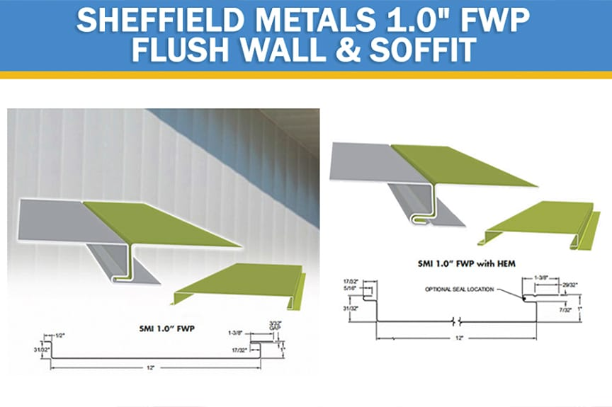Review of Metal Roof & Wall Panel Profiles Offered by Sheffield Metals: SMI 1.0 FWP Flush Wall & Soffit Profile