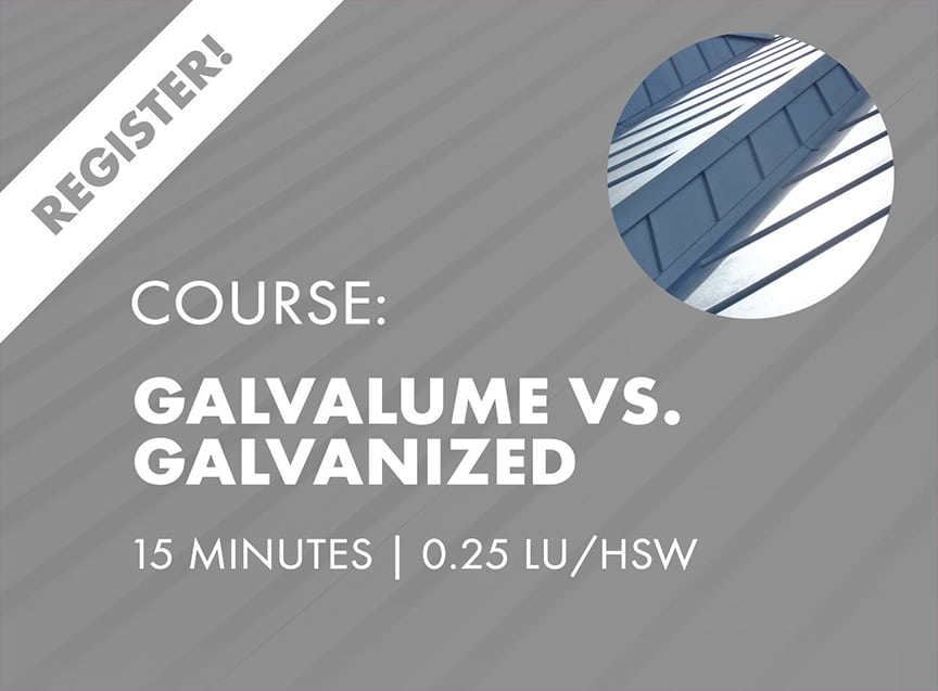 Sheffield Metals Releases Six AIA-Approved Continuing Education Nano Courses: Galvalume Vs. Galvanized