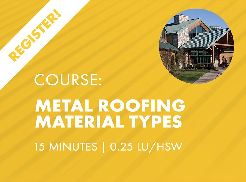 Sheffield Metals Releases Six AIA-Approved Continuing Education Nano Courses: Metal Roofing Material Types