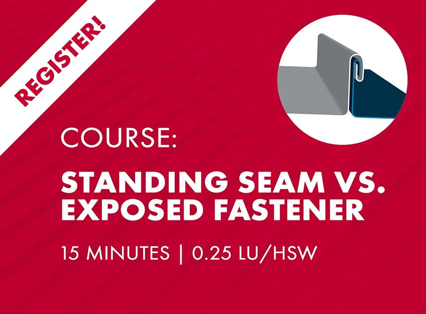 Sheffield Metals Releases Six AIA-Approved Continuing Education Nano Courses: Standing Seam Vs. Exposed Fastener