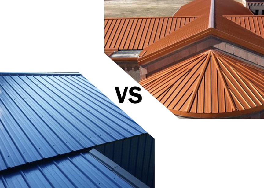 Standing Seam vs Exposed Fastener Metal Roofing: Which is Better: Main