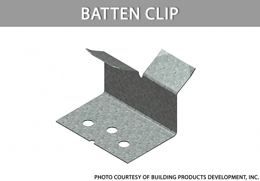 What are Metal Roofing Clips? Definitions, Types, & Comparisons: Batten Clip