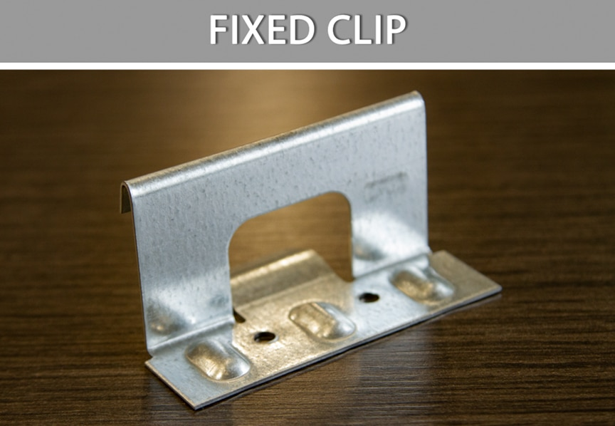 What are Metal Roofing Clips? Definitions, Types, & Comparisons: Fixed Clip