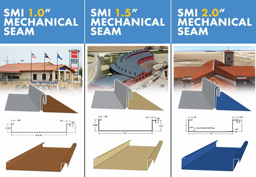 What is a Low-Slope Roof? Best Low-Slope Standing Seam Metal Roof Profiles: Mechanical Profiles