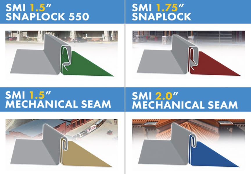 What is a Steep-Slope Roof? Best Steep-Slope Standing Seam Metal Roof Profiles: SnapLock / Mechanical Profiles