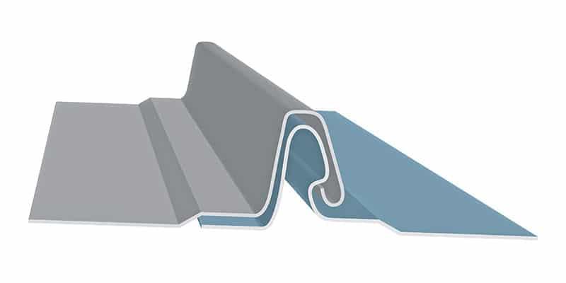 "Non-Engineered Standing Seam Metal Roofing Profiles: SMI 1"" Fastener Flange Profile"