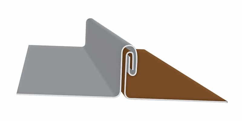 "Non-Engineered Standing Seam Metal Roofing Profiles: SMI 1"" Mechanical Seam Profile"