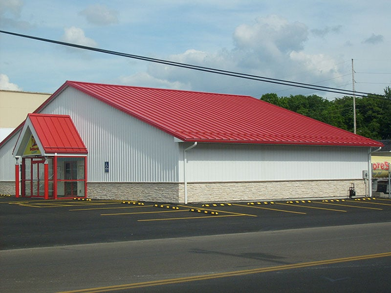 Commercial Metal Roofing Project: Bellstores Academy