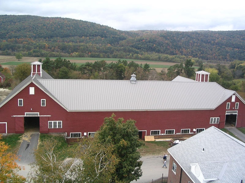 Commercial Metal Roof Project: Grafton Dairy Barn