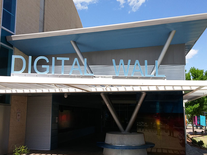 Commercial Metal Wall Project: Digital Wall