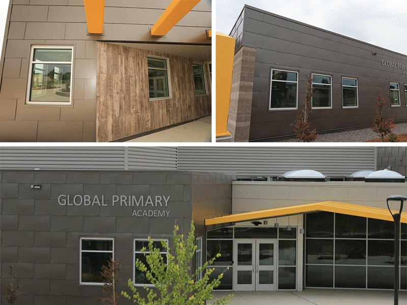 Commercial Metal Roof / Wall Project: Global Primary Academy