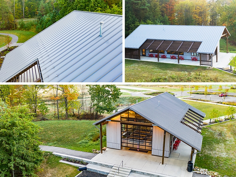 Commercial Metal Roof Project: Holbrook Hollows Park District