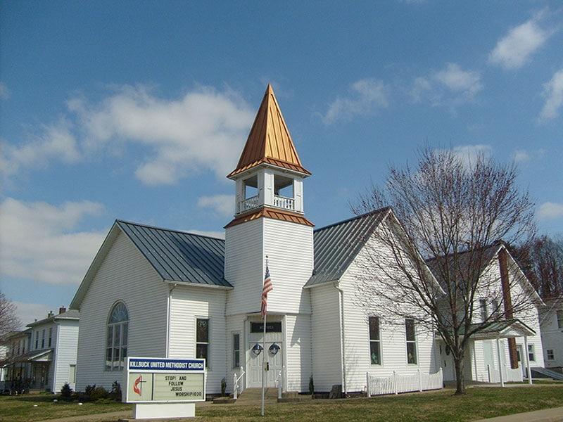 Commercial Metal Roof Project: Killbuck United Methodist Church