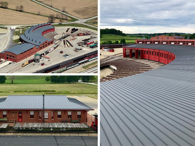 Commercial Metal Roof Project: Roundhouse