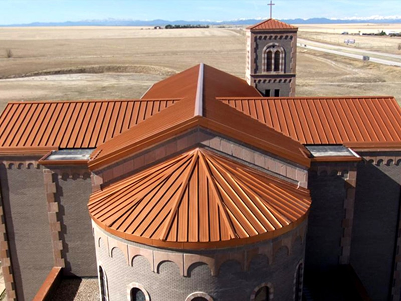 Commercial Metal Roof Project: St. Pius Church