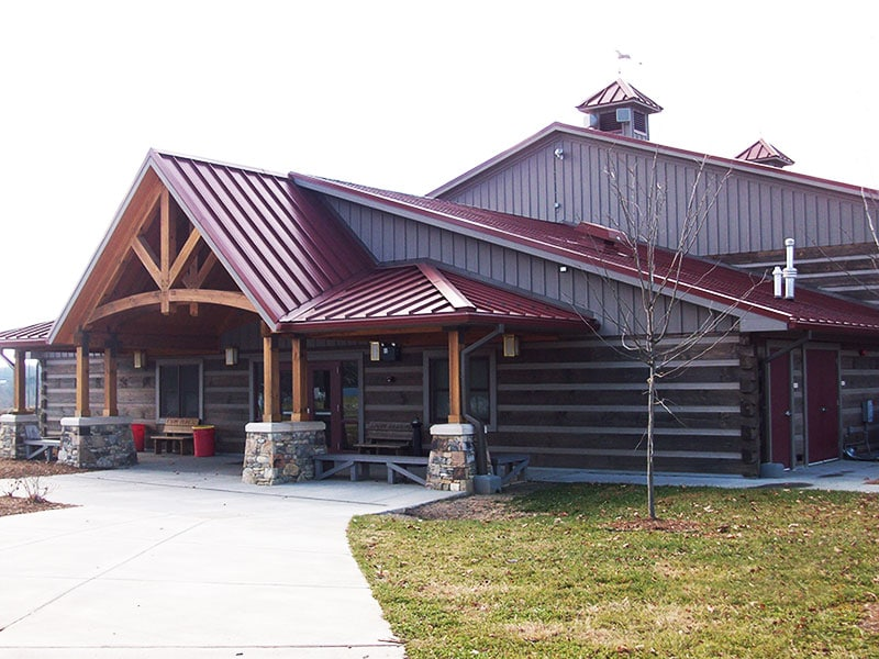 Commercial Metal Roof Project: WNC Agricultural Center