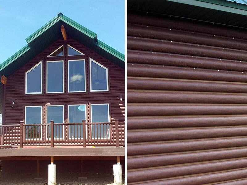 Residential Metal Wall Project: Log Cabin
