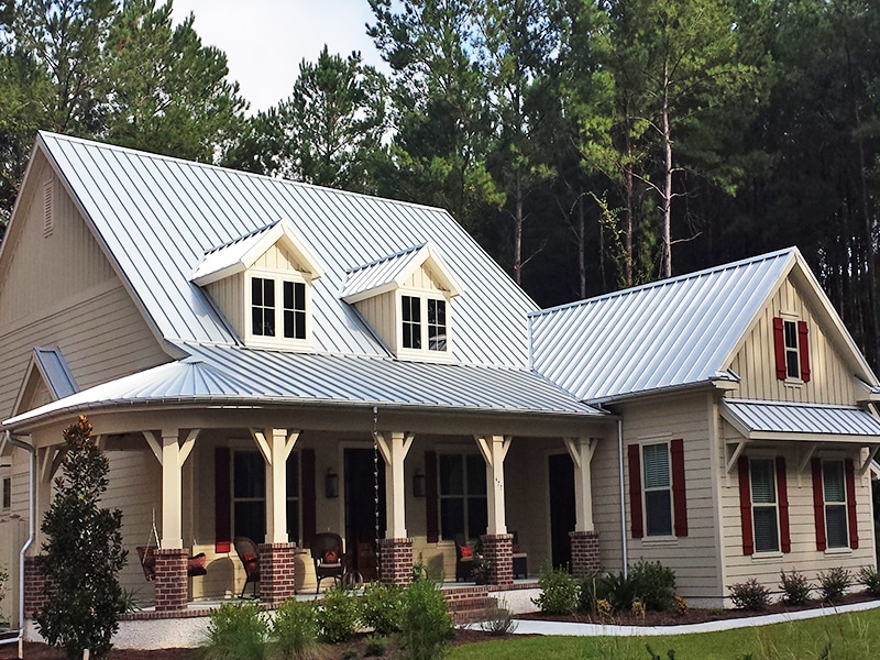 Residential Metal Roof Project: Residence 1
