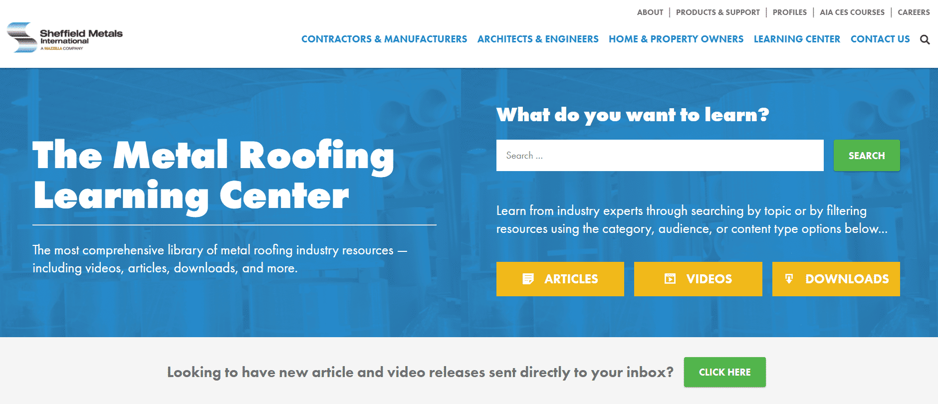 Metal Roofing Learning Center png