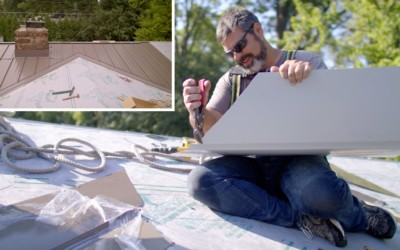 How to Join Two Valleys at the Ridge: Standing Seam Metal Roofing