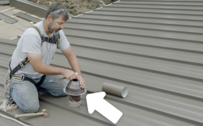 How to Install a Pipe Boot on a Standing Seam Metal Roof