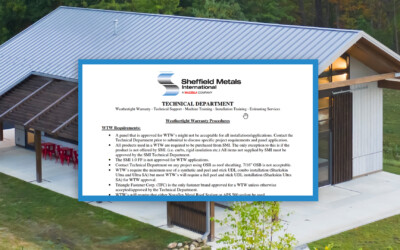 How to Apply for a Weathertight Warranty With Sheffield Metals